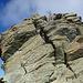 The demanding grade II climb onto the Punta Venezia summit.