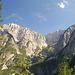 Ausblick in die italienischen Julischen Alpen.