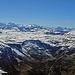 Weitsicht zu den Glarner Alpen, Tödi, Clariden, Hausstock