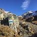 Blick während des Aufstieges auf das Gipfelziel
