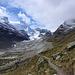 Auf dem Weg nach Arben oberhalb des Gletscherbeets vom Zmuttgleschter