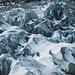 Der Gletscher ist sehr, sehr spaltenreich