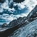 Spitze Berge über Chamonix