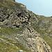 Der etwas steile und vor allem rutschige Abstieg vom Col de Chamolé
