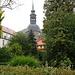 Blick auf die historische Kirche von Bad Schandau