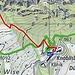 Abkürzung Höhenklinik Walenstadberg - Einstieg Sitzsteinweg guter Pfad, T2, leider nicht auf der Landkarte verzeichnet.