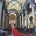 La navata centrale di Santa Maria di Castello con le colonne di granito ed i capitelli romani di reimpiego.