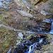 Rückblick zur rutschigen Wasserüberquerung