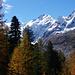 schöne Aussicht auf Piz Bernina und Piz Morteratsch