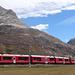 Berninabahn vor Piz Alv