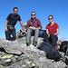 Schlumpf, Cyrill und Nadine auf dem Gipfel des Piz Albris 3166m