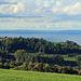 eine hügelige liebliche Landschaft, ideal für schöne leichte Wandertouren mit schöner Aussicht.