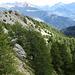 Aus dieser Richtung kommt Wanderweg Nr. 1 vom Col de Bornel