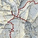 Route im Gipfelbereich