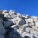 und die Vorschau auf die restlichen Meter zum Gipfel
