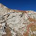 der Abstieg vom Berg Stock, eine Schlüsselstelle beim sehr steilen Abstieg vom Stock.