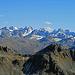 Aussicht von der Mittelflue ins Silvrettagebirge