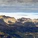 die Aussicht vom Gipfel der Wiss Platte, die Rote Wand