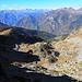 panorama verso la bassa Valle di Gressoney e la Valle d'Aosta