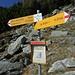 Wegweiser Alpe di Sassello