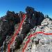 Hier nochmal der Blick zurück auf den obersten Teil der Route (T5, II-). Bei trockenem Wetter sollte es für erfahrene Berggänger aus den Alpen kein Problem sein, obwohl ich auch Leute getroffen habe, die umgekehrt sind.