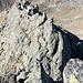 Die steile Kletterstelle im Rückblick