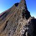 La partie délicate sur l'arête NE du Tannhorn, plus impressionnante que difficile