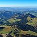 Blick vom Öhrlikopf in Richtung Westen, Kronberg, Hochalp, Spitzli