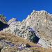 Rückblick beim Abstieg. Wenn man zum Öhrlikopf hinaufsteigt ist diese Stelle zuerst zu übersteigen, der Wanderer kann auswählen, ob er links oder rechts weitergehen will, es ist beides etwa im gleichen Schwierigkeitsgrad (KS.I)