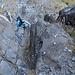 Am Einstieg des Klettersteiges.