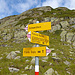 Verzweigung Richtung Fuorcla Radönt Punkt 2485m. Später schließt hier sich unsere Runde.