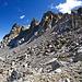 Kürz für die Rothorn Furgga treffen wir noch auf Gletscherresten.