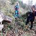 der Abzweig vom BWW (aus dem Büchsenwald hochführend) zu Ginetendossen