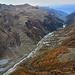 Blick vom Roc de Vache dem Val d'Anniviers entlang