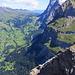 Blick hinüber zur großen Scheidegg, rechts des Wetterhorn