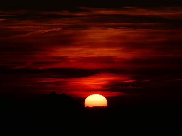 Sonnenuntergang von der Gmeinenwishöchi aus!