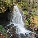 Um den kleinen Wasserfall herum wurde das Gelände alpin