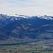 schönste Aussicht von der Bützelhütte aus, gezoomt, Blickrichtung Hoher Freschen