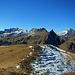 Ausblicke vom Seelieck:<br />Kirchlispitzen, Rossberg und Schesaplana