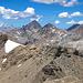 Vorgipfel (3041m) und Verbindungsgrat zum Hauptgipfel, unsere Aufstiegroute.