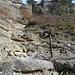 ...dann geht es über eine Felsstufe in eine zweite Rinne...