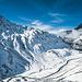 Die Passtraße zum Oberalppass von oben
