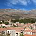 Casamaccioli - Ausblick über den Ort zum Monte Cinto. Foto vom 06.10.2017.