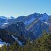 Blick hinüber zu den Drei Schwestern und bis zur Alvierkette