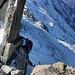 Nach noch etlichen Kraxelstellen Ausstieg hin zur Leiter an der Aiguille du Midi.