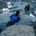 Scendendo abbiamo optato per restare sulle rocce (che talvolta hanno ingannato l'idea di stabilità)