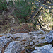 Rückblick von oben auf diese Felswand