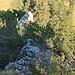 Rückblick auf den Weg über den Grat, es hat immer wieder Bergkiefersträucher auf dem Grat, die aber nicht besonders gross stören.