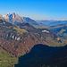 Blick vom Vorder Goggeien das Tal hinauf nach Wildhaus