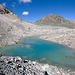 Gletschersee falls man das noch so nennen darf. Von der Gletscher ist nicht viel mehr zu sehen.